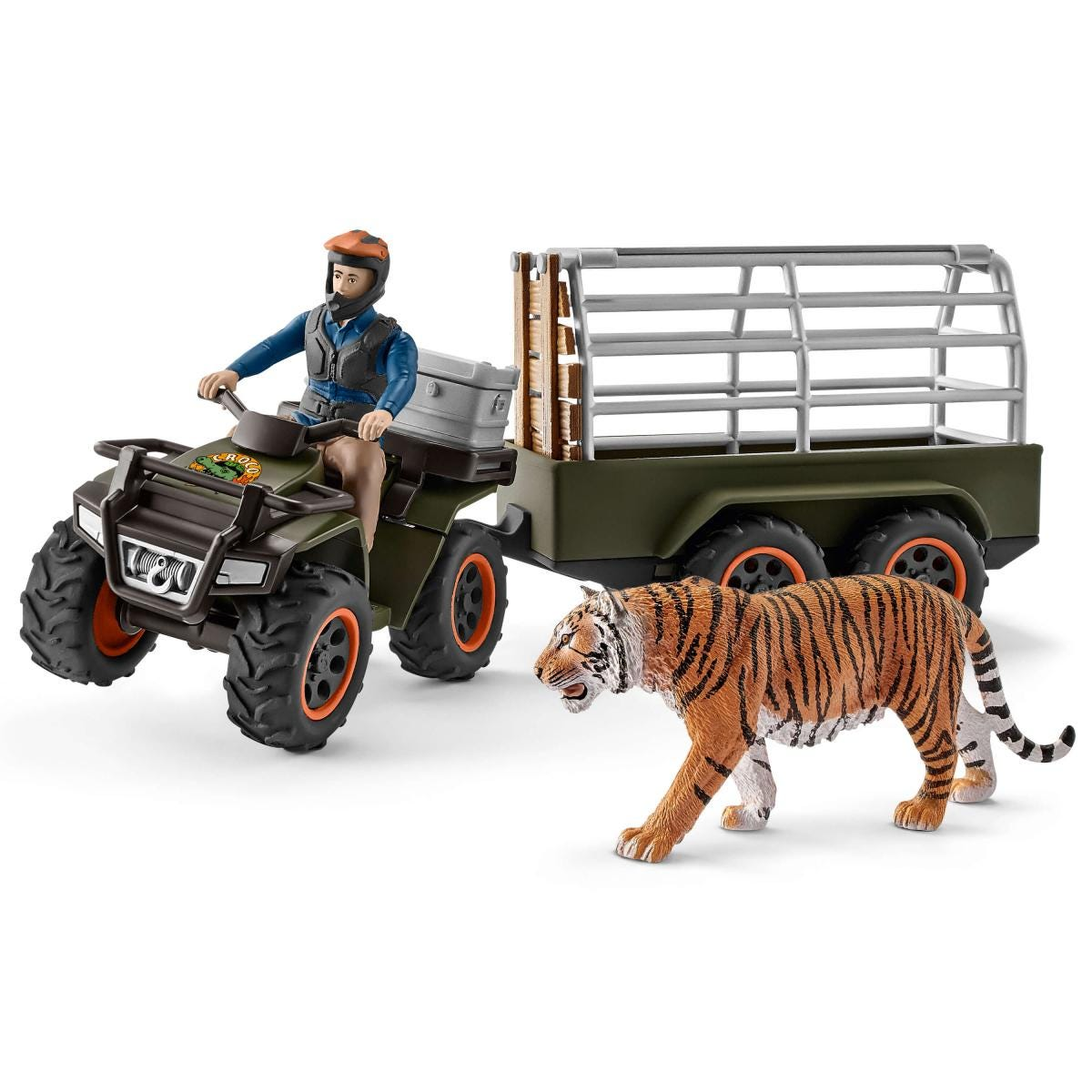 Schleich Quad Bike with Trailer and Figure Toy Figure 42351 NEW