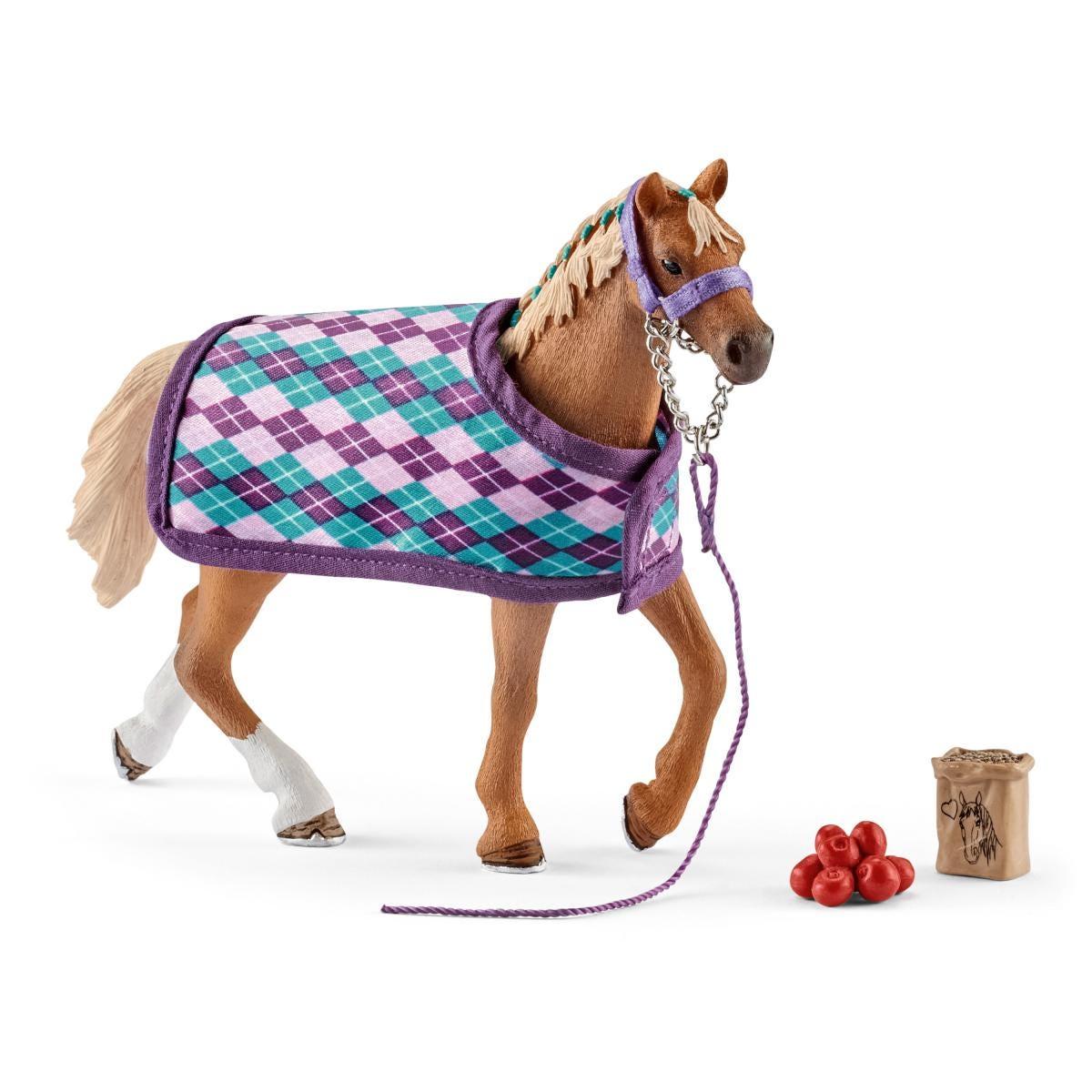 Schleich Horse Club 42360 anglais de sang total avec couverture