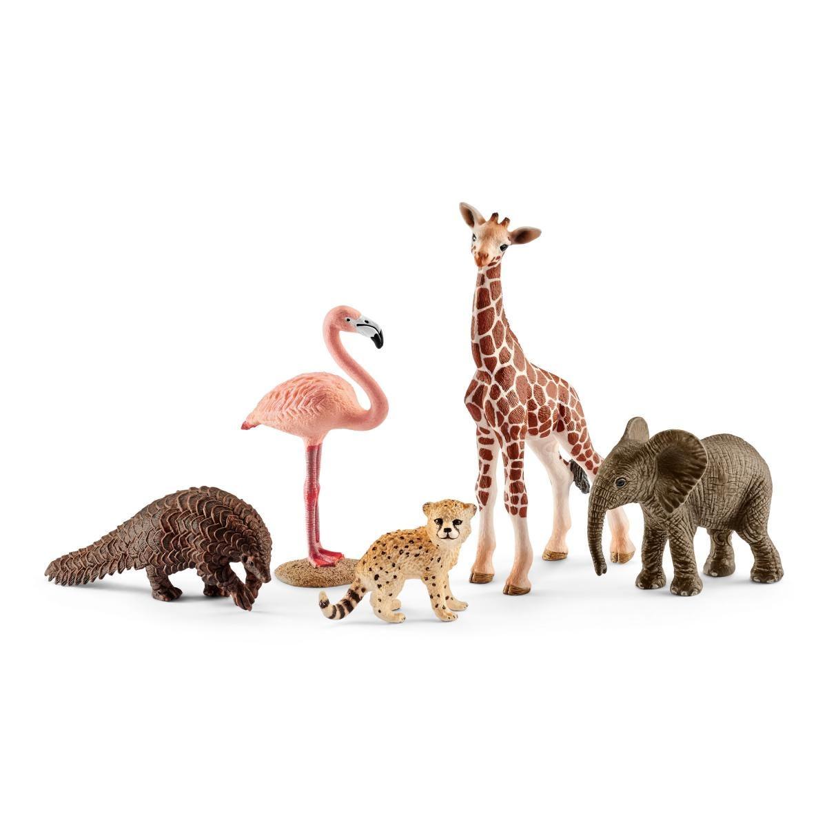 SCHLEICH 42387 Wild Life Starter Set includes 4 Animal Figurines Plastic Figures