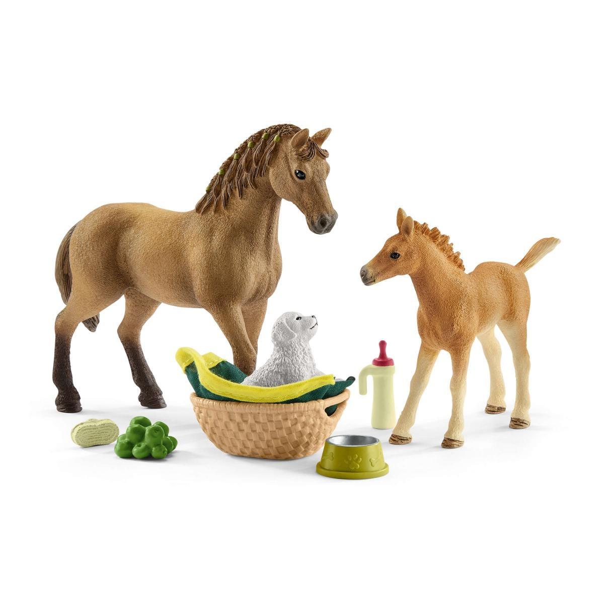 Schleich 42432 Horse Club Sarah's Baby Animal Care