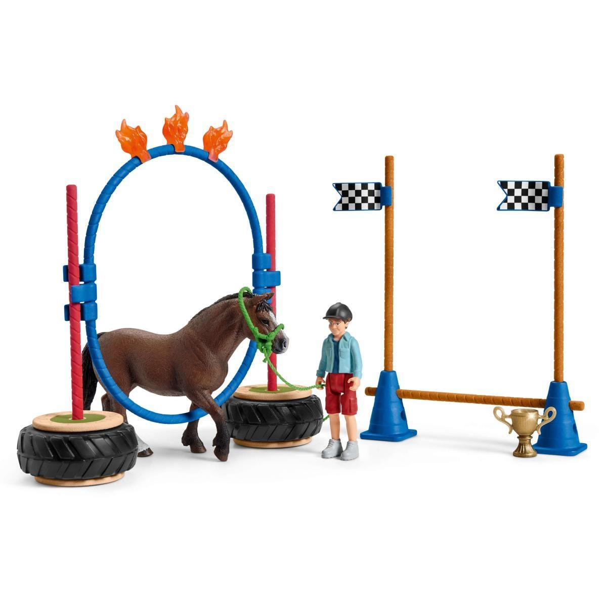 SCHLEICH 42482 Pony Agility Rennen Farm World
