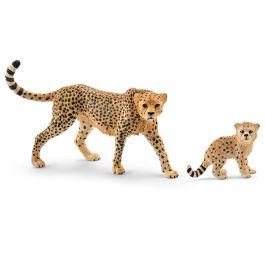 Cheetah female and cheetah cub