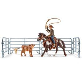 Lazo por equipos con vaquero