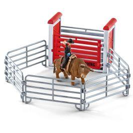 Monta de toros con vaquero