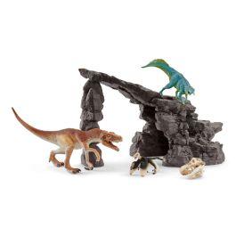Set de dinosaurios con cueva