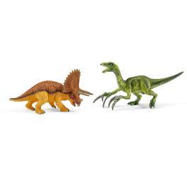 Triceratops and therizinosaurus, small