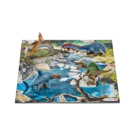 Mini dinosaurs with water hole puzzle