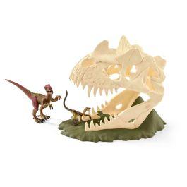 Large skull trap with Velociraptor
