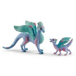 Dragón florido con niño