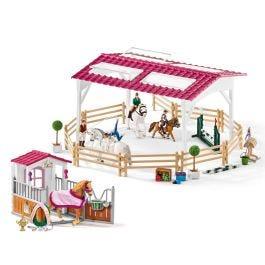 Escuela de equitación con box y accesorios