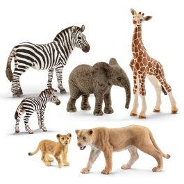 6-Piece Wild Animal Bundle