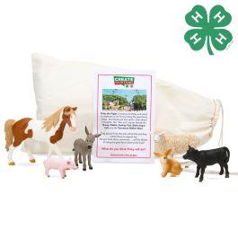 Schleich & 4-H 6 Piece Farm World Bundle with Story Starter Pouch