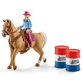 Barrel racing mit Cowgirl