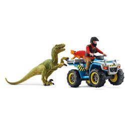 Vlucht op de quad voor Velociraptor
