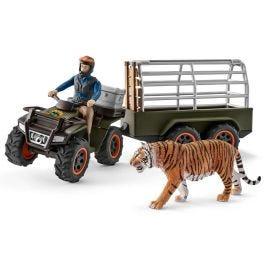 配有拖车与护林人的全地形车