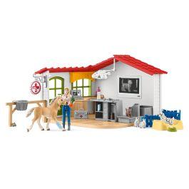 Clinique vétérinaire avec animaux domestiques