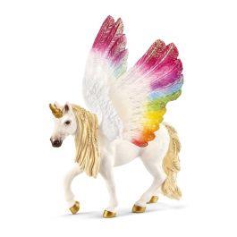 Unicornio arcoíris alado