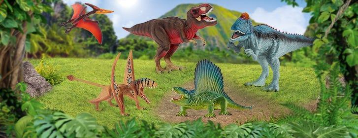 Schleich SCHLEICH  Dinosaurier Dino Fleischfresser Pflanzenfresser Urzeit